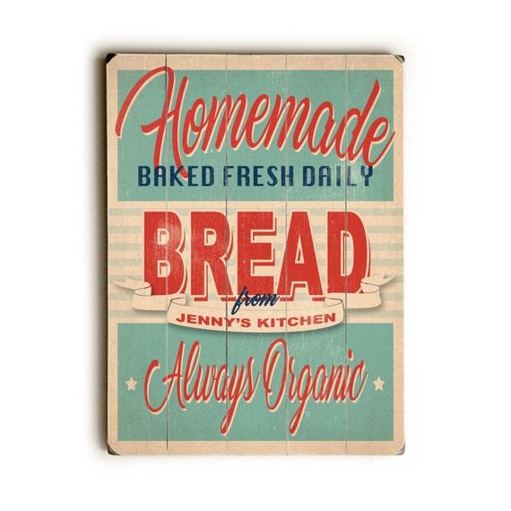 Personalised Kitchen Signs: CUSTOM Wooden Kitchen Sign Bread Sign Kitchen Decor Vintage