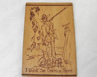 Wood Postcard - Prohibition - Asheville, N.C.