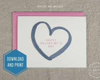 Printable Valentine's Day Card, Love Card