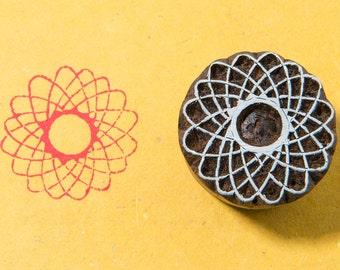 Atoms 262, wooden printing block