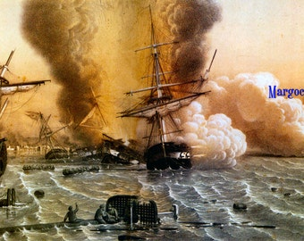 1853 11 30 Novembre le Désastre de Sinop Digital Download JPG Image