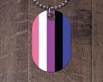 Genderfluid Flag Dog Tag