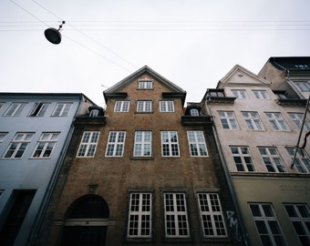 Old buildings in Copenhagen, Denmark. | Photo Print, Stretched Canvas, or Metal Print.