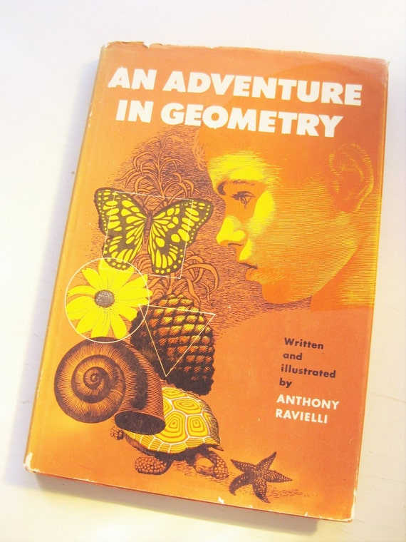 """First edition """"An Adventure in Geometry"""" by Anthony Ravielli, 1957. Math. Children's books. Home school. Science books."""