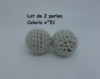 2 beads crochet (2 cm) colour 51