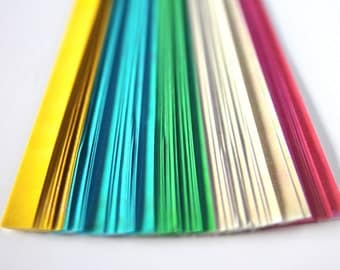 Sparkly folding paper for lucky stars  - 80 paper strips for origami stars