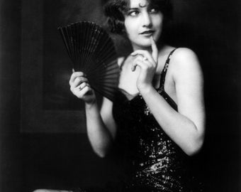 Barbara Stanwyck, Ziegfeld girl, 1920's, Flapper Fashion, Movie Star Photo Print