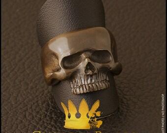 Bronze Genuine Small Skull Ring
