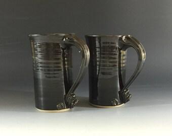 Set of two tall mugs.