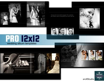 PRO 12x12 Wedding Album Photoshop Templates