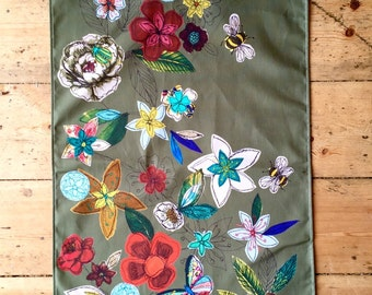 Tea towel- Garden design