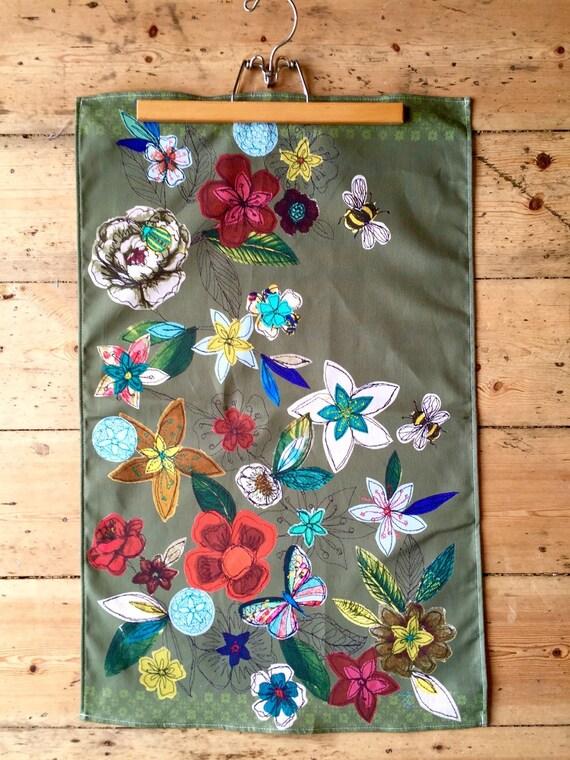 Tea towel- Garden design