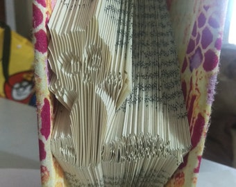 Folded Book Art - Cat & Fish Bone