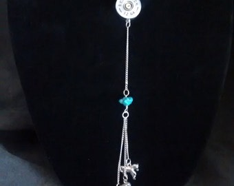 Horse Lover's Necklace with Shot Gun Shell