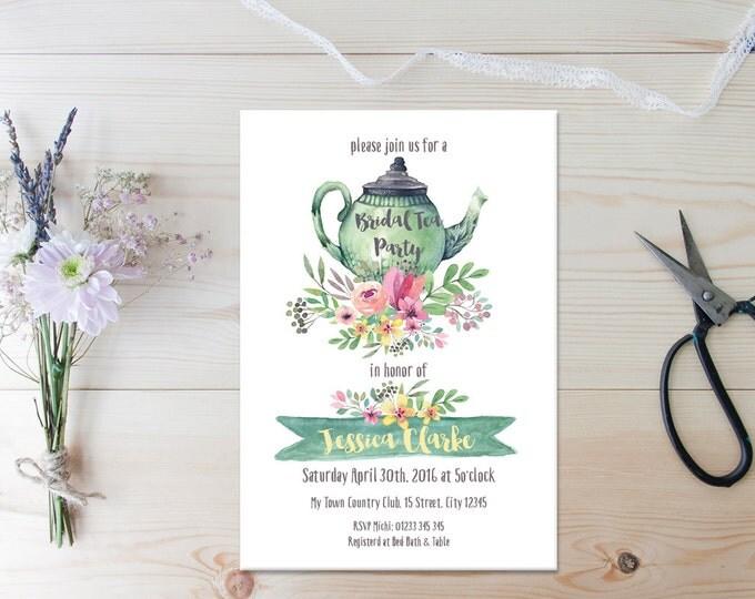 Bridal Tea Shower // Tea Party // Bridal Tea Invitation // Printable Shower Invite // Printable Invitations