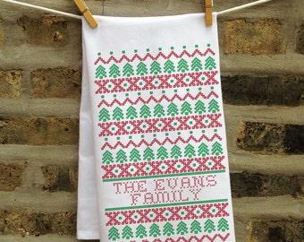 Custom Christmas Kitchen Towel, Christmas Kitchen Decor, Home Christmas Decorations, Personalized Christmas Towel, Custom Christmas Gift