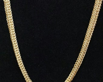 """Persian Dragonscale 18"""" Brass Necklace"""