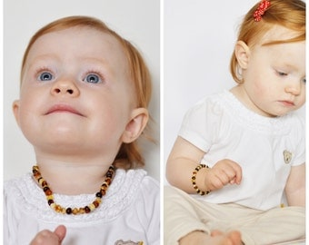 Baby AMBER teething necklace and Baby amber bracelet, Baltic amber, amber necklace baby, amber beads, amber bead necklace, amber beads