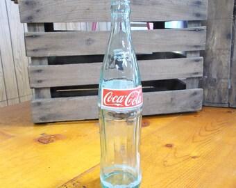 Coca Cola Vintage Green 16oz Red Label Pop Bottle Coke Bottle Huntsville AL