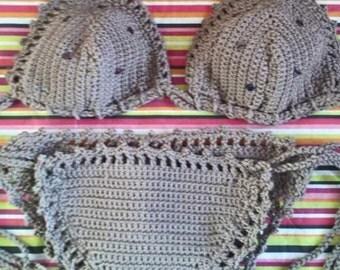 Crocheted bikini, boho bikini,  bohemian bikini, festival wear fashion wear,  beach wear, bikini body,