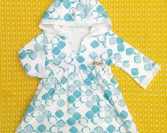 Organic Baby Dress, Tunic Hooded Dress