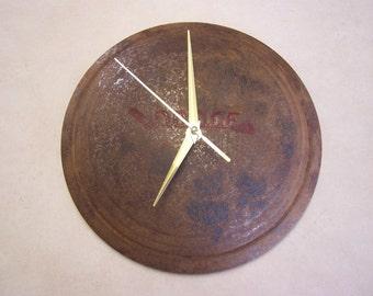 Dodge Hubcap Clock - Vintage Hub Cap Clock - Man cave - Shop Clock - Garage Gift - Hub Cap Clock - Dog Dish Clock -