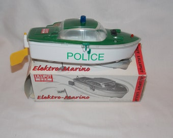 Plastic Battery Powered Police Boat from Hungary