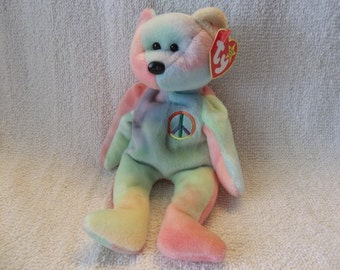 Peace the Bear- Ty Beanie Baby  (28A)