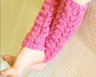 Leg warmers kids, knit Leg warmers in pink, slouchy Leg warmers, kids Boot socks, leg warmers for girls.