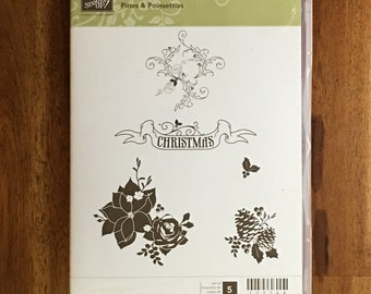 Stampin' UP! Pines & Poinsettias - FREE SHIPPING!