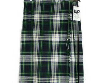 Vintage 90s Green Tartan Kilt Skirt