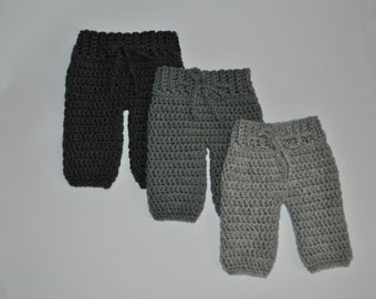 Crochet Newborn Pants, Newborn Photo Prop