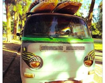 4 x 4 photo card-Fiona VW bus