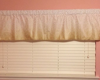 custom made window valence...standard sz approximately  14 x 42