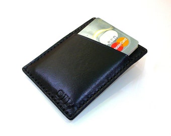 Slim Credit Card Wallet, Minimalist Leather Card Holder, Handmade leather card holder