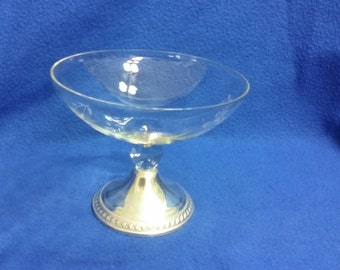 A Duchin Creations Sterling and Glass Candy Dish