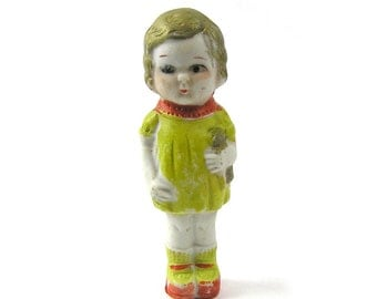 Vintage Japanese Bisque Doll 1920s - 1930s Porcelain Doll
