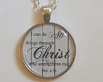 Christian Necklace Bible Verse Pendant Christian Gift