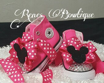 Minnie Converse Boutique Shoe | Birthday Party Outfit | Minnie Mouse Birthday