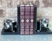 2 Black Argus C3 Camera - Antique Decorative Bookends