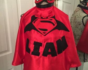 Boys superman v's batman cape