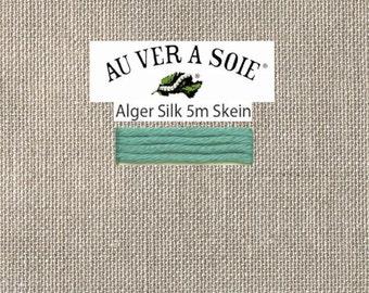 Kreinik - Au Ver A Soie - Soie d'Alger - Color 132N - Teal Blue Medium Light- 5.5 Yards - By the Skein