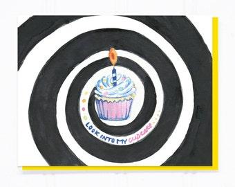 Look Into My Cupcake Birthday Card