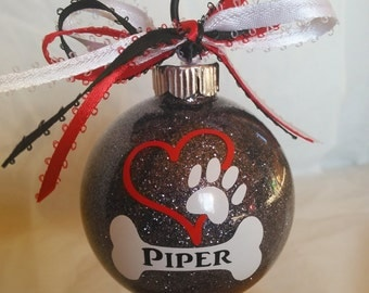 Pet Accessories, For My Dog, Custom Ornaments, Vinyl Ornaments, Christmas For Pets, Pet Products, In Memory Of, Dog Ornaments Christmas