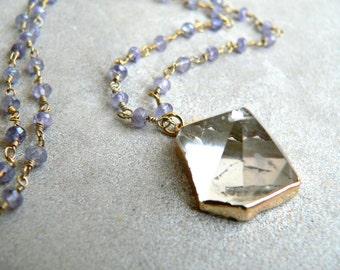 Pandora Crystal Iolite Necklace