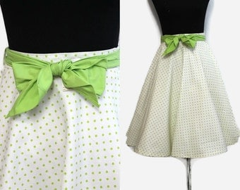 50s Circle Skirt XS Deadstock / Polka Dot Rockabilly Skirt / 1950s Cotton Skirt New