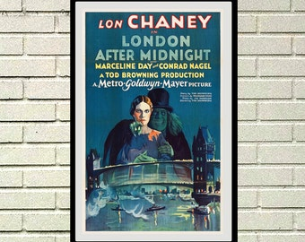 Reprint of the vintage movie poster London After Midnight