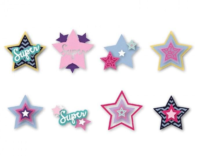 New! Sizzix Triplits Die Set 13PK - Stars by Stephanie Barnard 661118