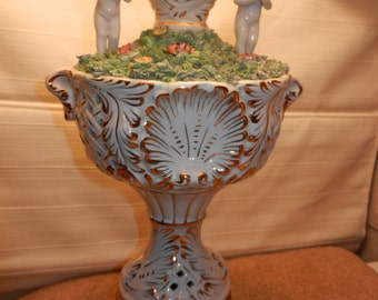 Capodimonte Lamp and Large Shade