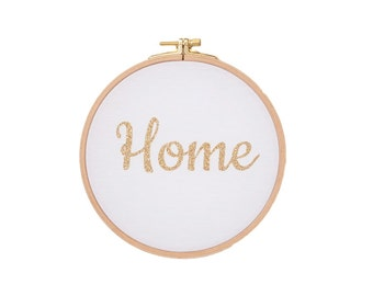 Home Wall frame - White and gold Glitter - Home - Decoration